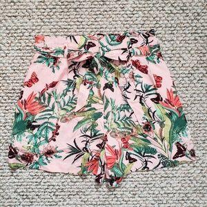H&M Floral Printed Pink Shorts NWOT